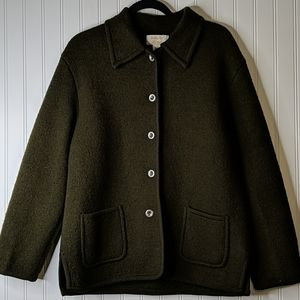 Vintage Tally Ho Wool Olive Green Cardigan Sweater